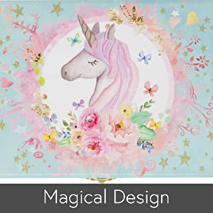 Magical Unicorn Music Box Artwork by The Memory Building Company