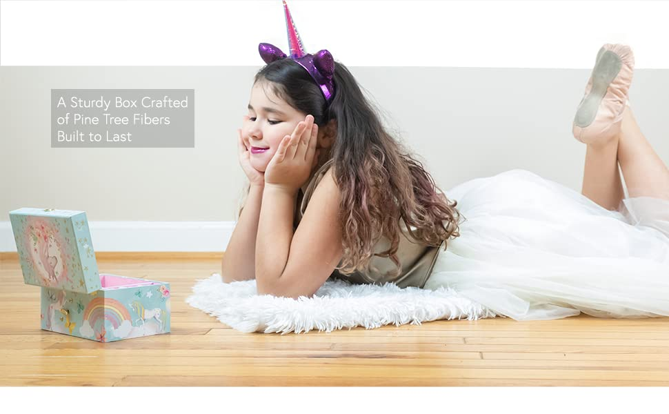 Unicorn Musical Jewelry Box for Girls by The Memory Building Company