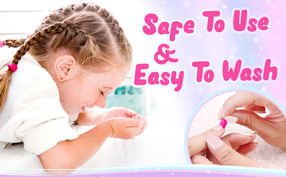 Washable makeup for little girls