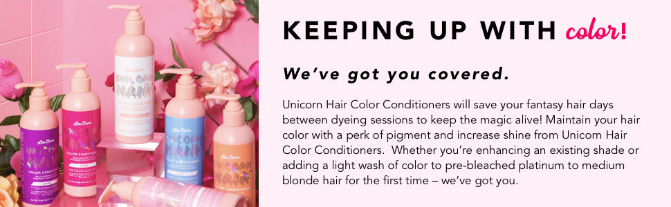 loreal colorista, manic panic pink, adore semi permanent hair color, unicorn hair dye sea witch